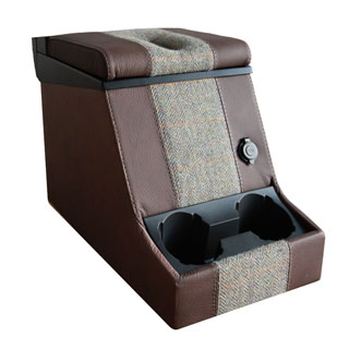 Premium Locking Cubby Box -Harris Tweed