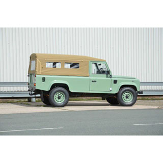 CANVAS TOP FULL LENGTH SAND WITH SIDE WINDOW DEFENDER 110 2 DOOR