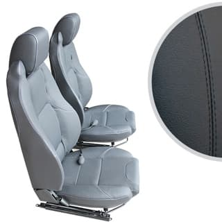 Exmoor Trim Mk-Ii Elite Seats (Pair) With Heaters and Lumbar Supports For Defender - Black Leather