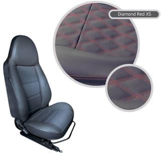 Modular Seats Diamond Red Xs (Pair)