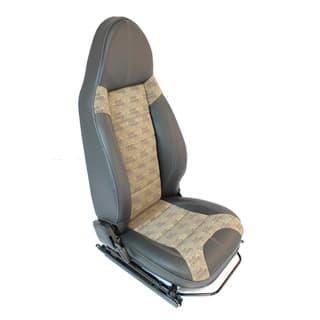 Premium Modular Seats - Xs Vinyl W. Logo Tan Centre Panels (Pair)