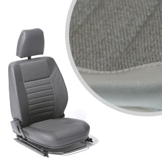 Front Defender Seat Assembly With Adjustable Frame, Right Hand - Twill Vinyl