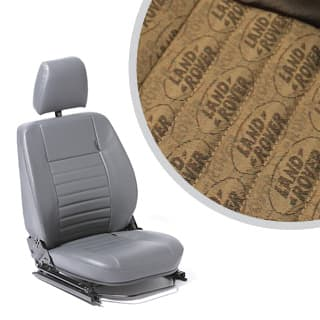 SEAT ASSEMBLY LEFT-HAND FRONT OUTER DEFENDER L R LOGO BROWN