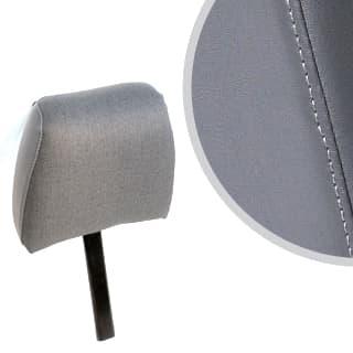 Front Headrest Dark Grey Vinyl