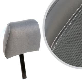 Front Seat Headrest Defender Xs-Black Rack Half Leather