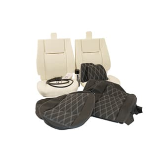 TWO SEAT TRIM KIT DIAMOND WHITE XS
