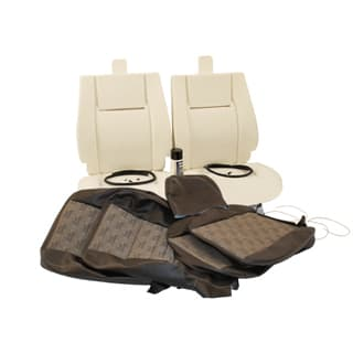 TWO SEAT TRIM KIT LR LOGO BROWN