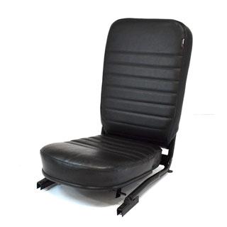 SEAT ASSEMBLY LESS/HEADREST FRONT CENTER DEFENDER BLACK VINYL