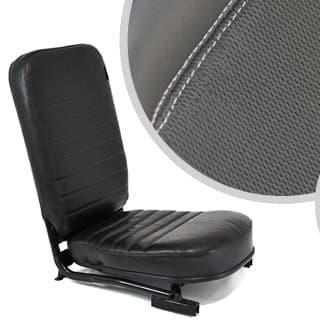 Front Center Seat - No Headrest - Xs Black Rack Half Leather