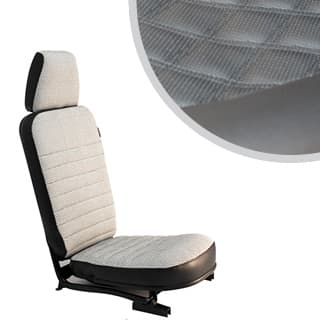 Front Center Seat - With Headrest - Diamond Black Xs