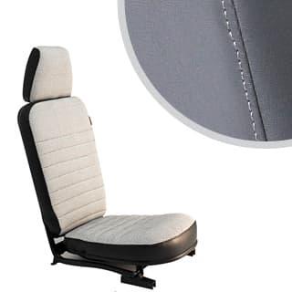 Front Center Seat - With Headrest -  Dark Grey Vinyl