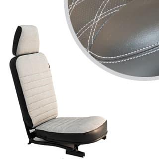 Front Center Seat - With Headrest - Diamond White Xs