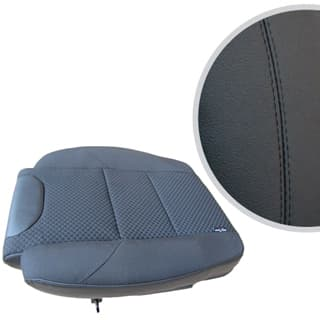 EXMOOR TRIM EXTENDED SEAT BASE FOR DEFENDER FRONT OUTER SEAT- BLACK LEATHER