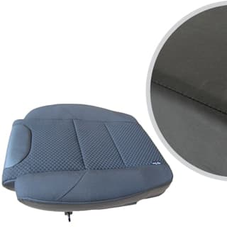 EXMOOR TRIM EXTENDED SEAT BASE FOR DEFENDER FRONT OUTER SEAT- BLACK VINYL