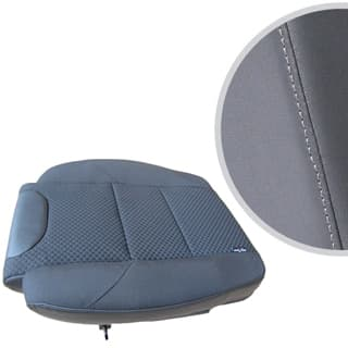 EXMOOR TRIM EXTENDED SEAT BASE FOR DEFENDER FRONT OUTER SEAT- DARK GREY VINYL