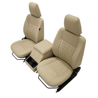 Cool-N-Vintage Front Seat Pair w/Cubby Defender Savannah Leather