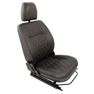 Exmoor Trim Front Seat Pair For Defender With Heaters Installed -Diamond Black Vinyl