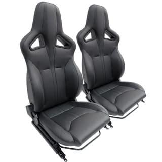 Elite Sports Seats - Xs Black Vinyl w/Black Stitching