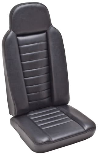 High Back 2nd Row Outer Seat Assembly in Black Vinyl