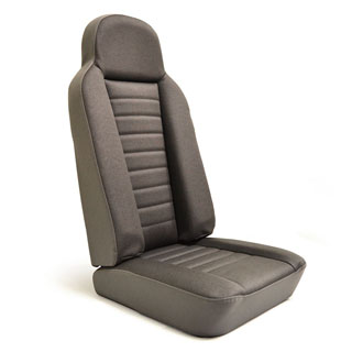 HIGH BACK 2ND ROW OUTER SEAT ASSEMBLY IN TWILL VINYL