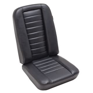 LOW BACK 2ND ROW CENTER SEAT ASSEMBLY IN BLACK VINYL