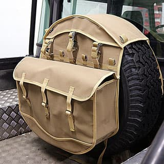 Canvas Wheel Cover Storage Bag -Sand