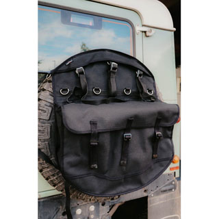 Canvas Wheel Cover Storage Bag -Black