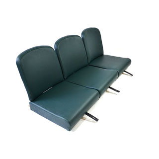"Seat Set Front 86"" Green Vinyl"