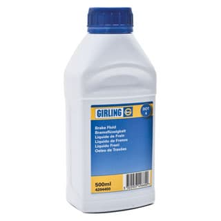GIRLING DOT 4 BRAKE FLUID 500ml BOTTLE Currently on back order from supplier.  No ETA available.