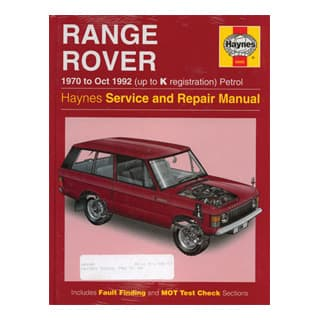 Haynes Manual Pre-'92 Range Rover Classic