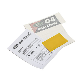 "DECAL G4 CHALLENGE DEFENDER 4"" X 1 7/8"""