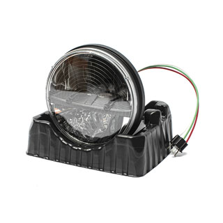 "LED Winter Headlamp 7"" Split Reflector Heated Dot"