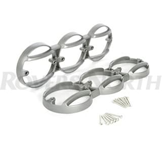 KBX LAMP GUARD SET FOR DEFENDER REAR KBX MUTI LAMP MOUNT IN BRUNEL SILVER