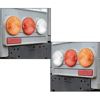 KBX MULTI LAMP MOUNT SET FOR REAR NAS DEFENDER LIGHTS IN BRUNEL SILVER