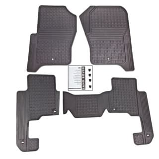 RUBBER MATS SET FRONT & MIDDLE LR3 & LR4 - GENUINE