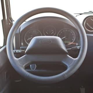 Steering Wheel Black Leather Defender