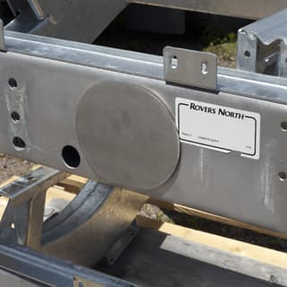 Stainless Cover For Trailer Plug Recess For Puma Style Rear Crossmember