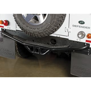 REAR STEP & TOW BUMPER WITH CLASS 3 RECEIVER FOR  DEFENDER WITH RUBBER TREAD PLATE