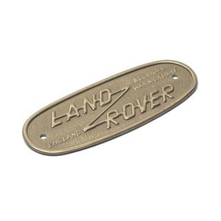 BRASS BADGE LAND ROVER SERIES II, IIA, & III