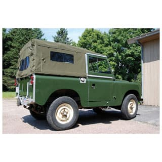 CANVAS TOP FULL LENGTH 88 WITH SIDE WINDOWS GREEN DEEP WEAVE CLASSIC