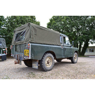 CANVAS TOP 3/4 LENGTH 109/110 REGULAR PICK UP.  PLAIN WITHOUT SIDE WINDOWS, KHAKI GREEN
