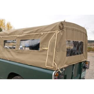 CANVAS TOP 3/4 LENTGH WITH SIDE WINDOWS 109 / 110 REGULAR PICK UP, SAND
