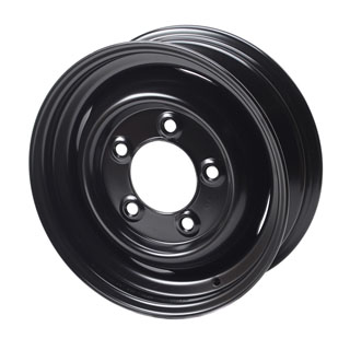 "STEEL WHEEL 16"" X 5.5"" BLACK FOR SERIES & DEFENDER"
