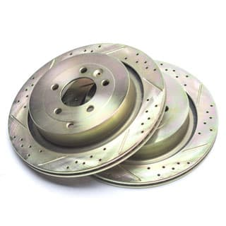 Brake Disc Set Slotted and Drilled For Rear Axle Lr3, L320 & Range Rover Sport