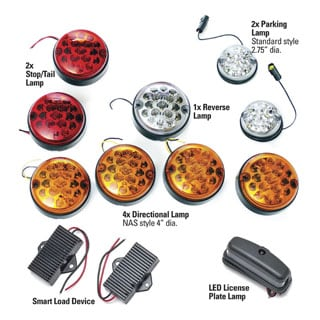 LED Vehicle Lamp Kit Defender Without Rear Fog Guard
