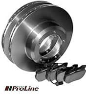 Pads & Rotors Rear Set by Proline for Range Rover Classic