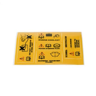 Warning Labels Set Of 5 Defender & Di