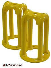 HEAVY DUTY SHOCK TOWER FRONT PAIR YELLOW
