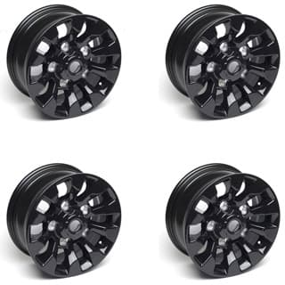 "Set Of 4 Black  Sawtooth 16 X 7"" Alloy Wheels"