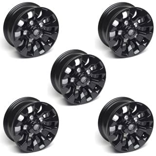 "SET OF 5 BLACK  SAWTOOTH 16 x 7"" ALLOY WHEELS"